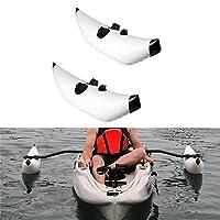 Mexidi PVC Inflatable Kayak Outrigger Stabilizer Kit, Mirage Drive Kayak Sidekick Kit Canoe Fishing Boat Standing Float Stabilizer System(Bar not Included) (White)