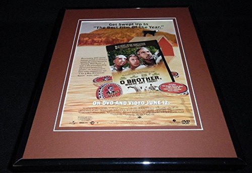 O Brother Where Art Thou 2001 Framed 11x14 ORIGINAL Advertisement George Clooney