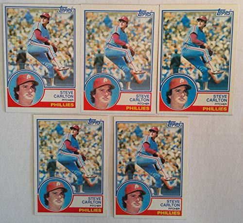 Topps 1983 Steve Carlton Phillies Pitcher Baseball Cards # 70 Lot of 5