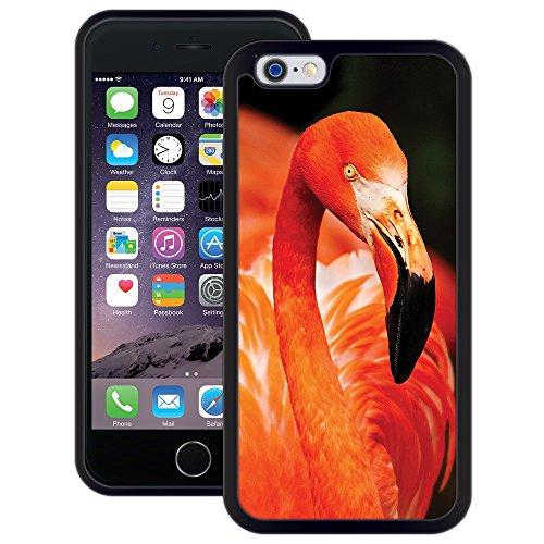 Flamingo | Handgefertigt | iPhone 6 6s (4,7') | Schwarze Hülle
