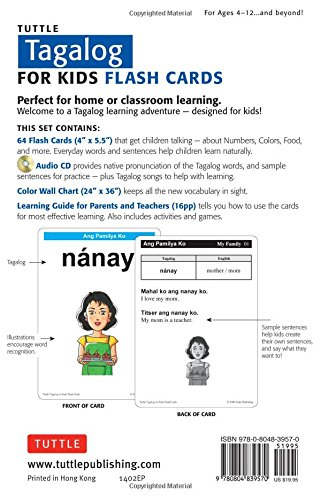 Tuttle tagalog for kids flash cards kit includes 64 flash import tuttle tagalog for kids flash cards kit includes 64 flash cards audio cd ccuart Image collections