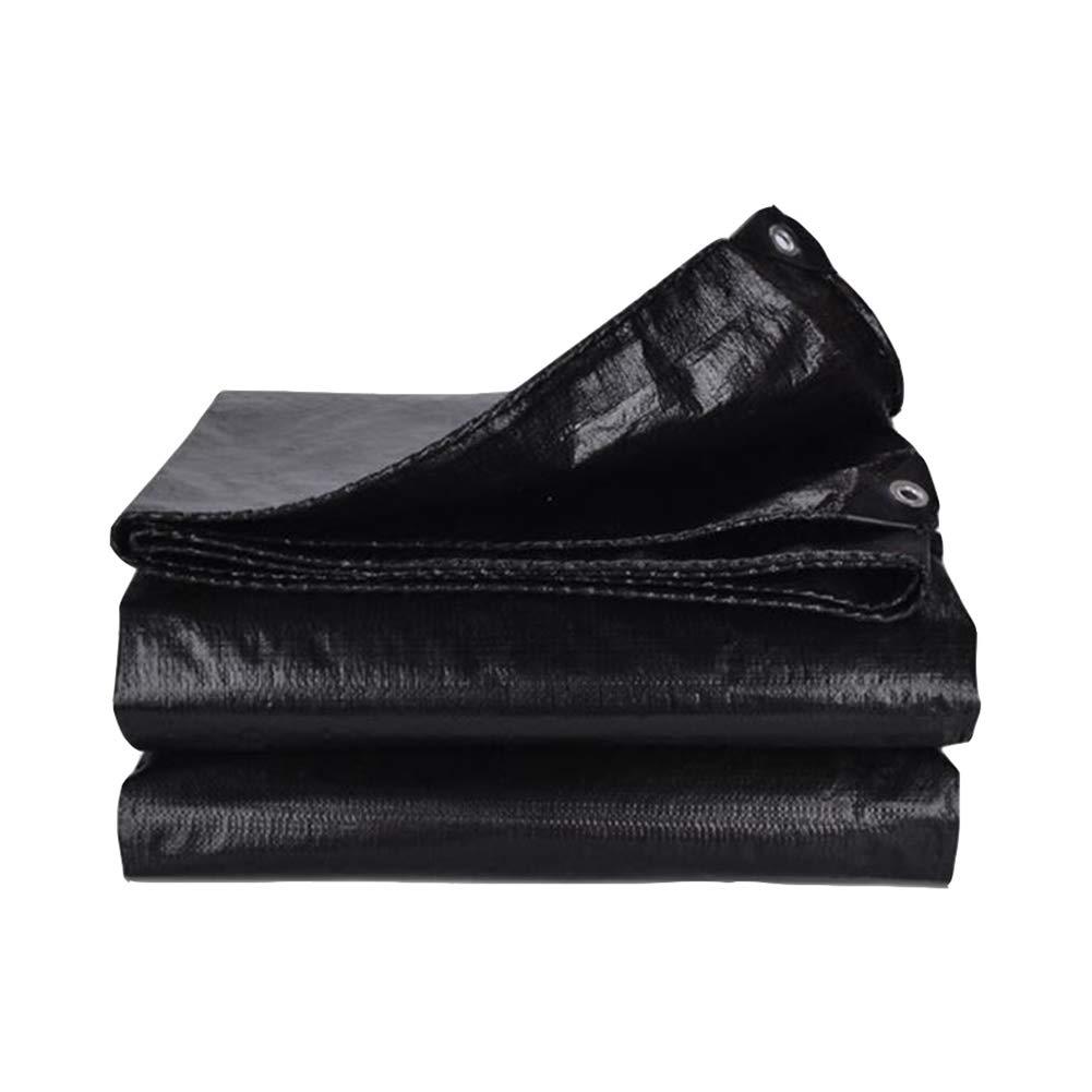 DALL ターポリン 防水タフグラウンドシートカバー屋外キャンプシェード布160G /M² (色 : 黒, サイズ さいず : 5*5m) 5*5m 黒 B07KSRD4J1