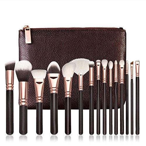 Price comparison product image Euone 15 PCS Pro Makeup Brushes Set Cosmetic Complete Eye Kit + Case