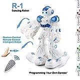 Remote Control RC Robot,Gesture Sensing Robotics Humanoid Robots Kit Toys Present for Kids-[Dancing,Slides,Singing,Smart Programming Dances]-USB Charging,Blue