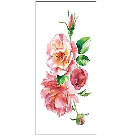 tzxdbh 10 Unids-Flor Pegatinas de Tatuaje de Color Bosquejo ...
