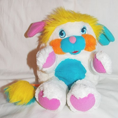 "1985 Vintage Popples 11"" Plush White Puffball Popple Doll"
