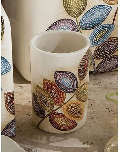 Croscill Mosaic Leaves Tumbler Home Kitchen Dining