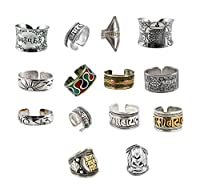 Unique Tibetan Alloy Om Mantra Buddhist Signs Engraved Ring