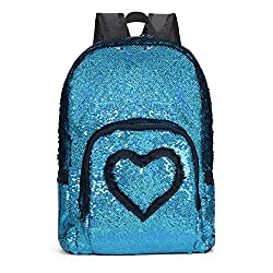 Blue Reversible Sequins School Backpack