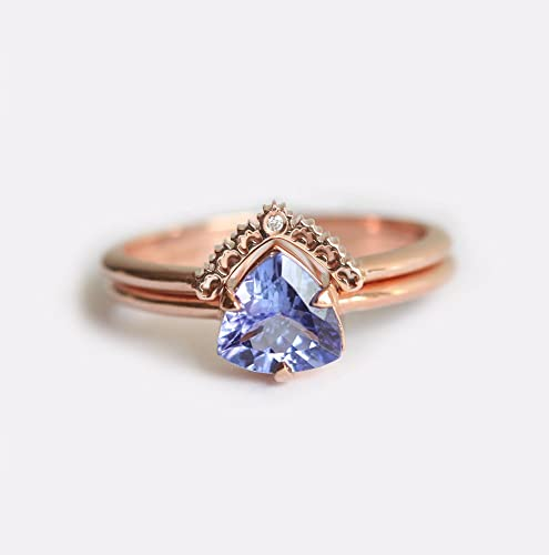 ring unique set gold and rings main round tanzanite white cut engagement channel diamond