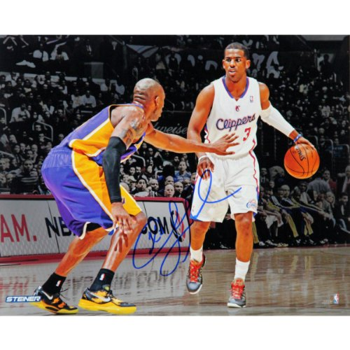NBA Los Angeles Clippers Chris Paul vs. Kobe Bryant Signed Photo, 8 x 10-Feet by Steiner Sports