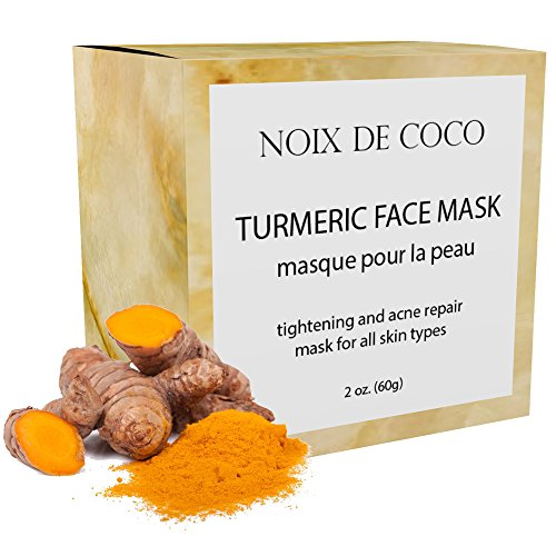 Noix de Coco Organic Superfood Face Mask - Reduces Pores & Acne - Tightening & Hydrating - All Natural, Vegan, Cruelty Free, Non-Toxic (Turmeric)