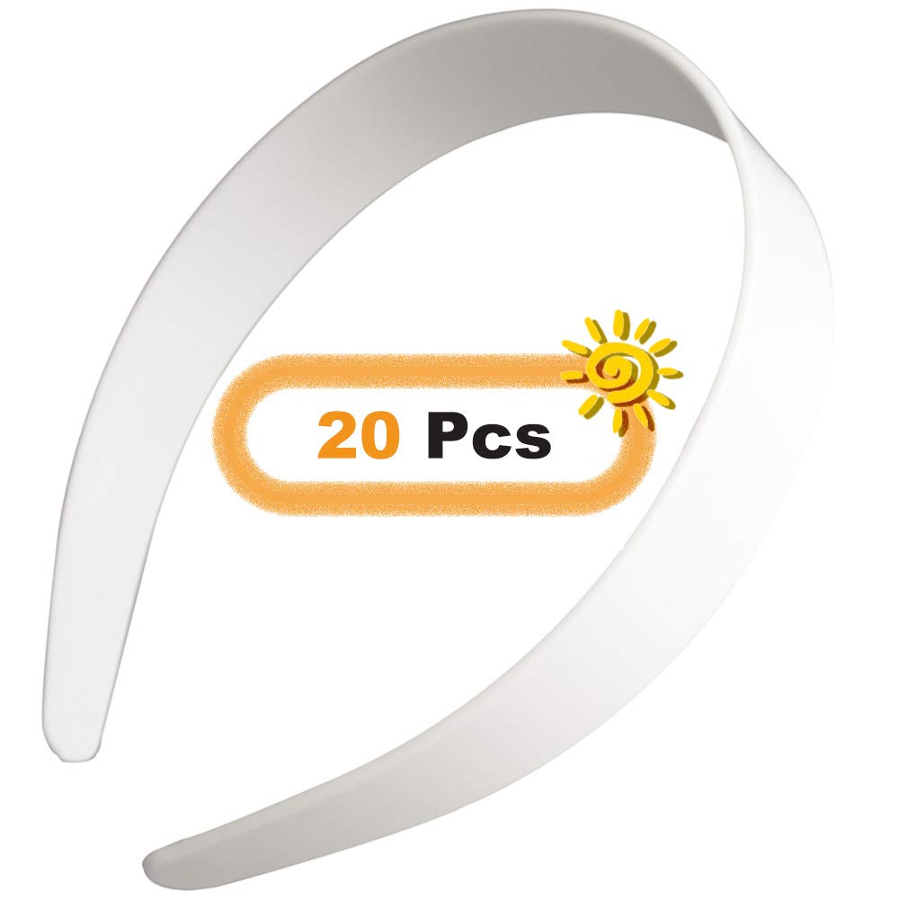 "Beige Plaid Check Comfortable Headband 1/"" 25mm"