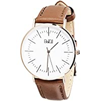 BaIDI Womens Watches Women Wrist Watch Waterproof Analog Watch with Second Hand & Brown Leather Quartz Watches for Women, Ladies, Female