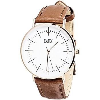 BaIDI Women Wrist Watch Waterproof Analog Watch Female Wrist Watches Ladies Wrist Watch Quartz Watches Womens with Second Hand & Brown Leather Strap ...