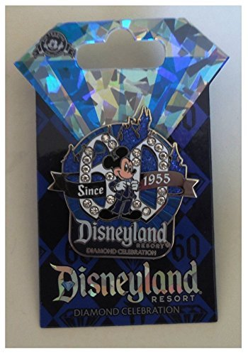 Disneyland 60th Anniversary Diamond Celebration Mickey Mouse Logo Trading Pin (Pin 60th Disney Anniversary)