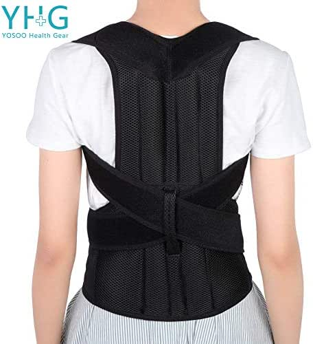 Back Brace Posture Corrector, Adjustable Back Shoulder Lumbar Waist Support Belt for Men and Women, Improve Posture, Prevent Slouching, Pain Relief (L 31