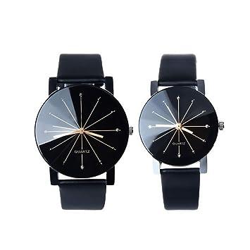 Queta Fashion - Reloj de Pulsera para Pareja, Estilo Informal, para Hombre y Mujer: Amazon.es: Informática