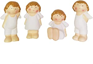 Set of 4 Ceramic Cherubs/Angels Figurine Cute Collectible Angels Home Decor and Gift