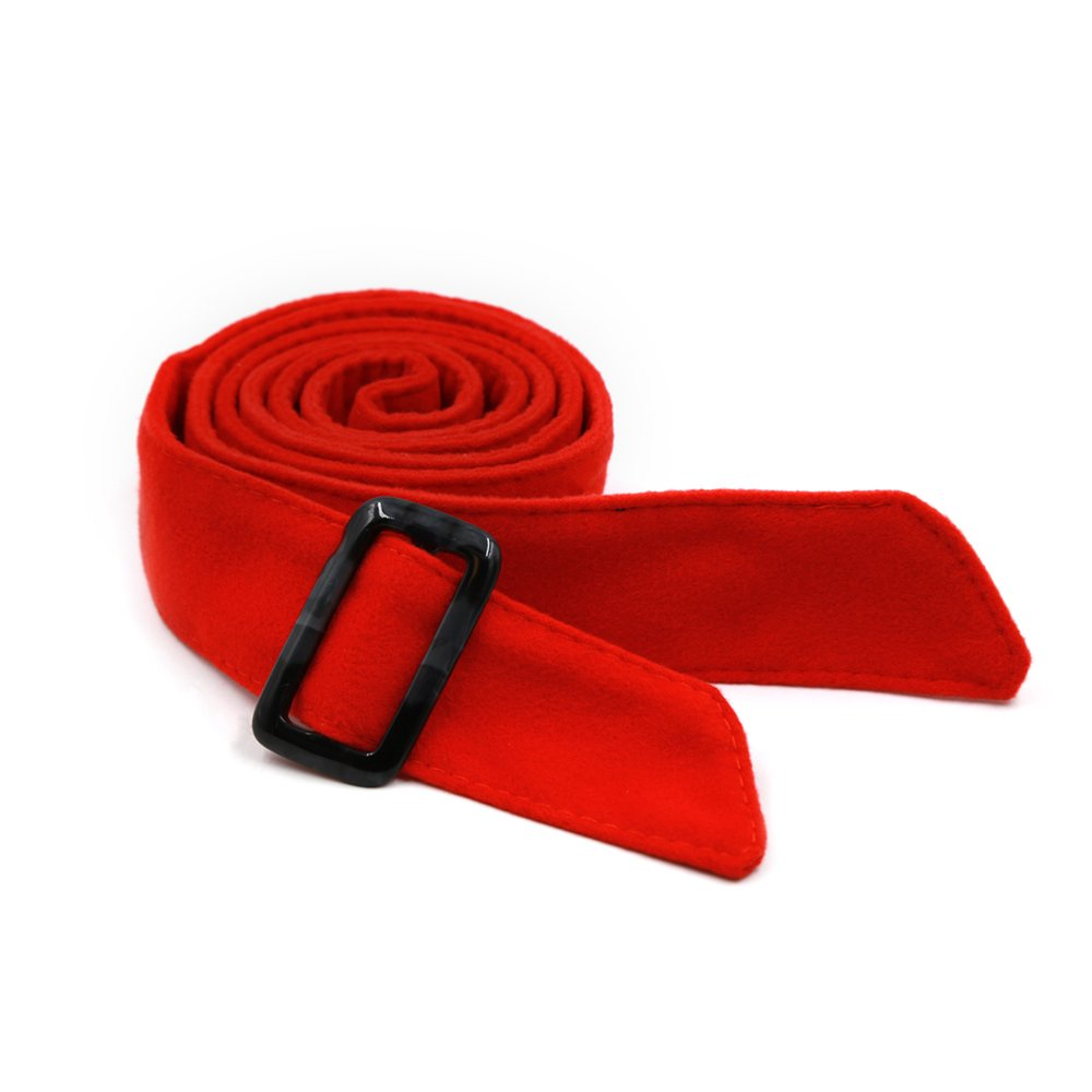 Ya Jin Woolen Women Wrap Corset Cinch Tie Wide Waist Belt Band for Overcoat