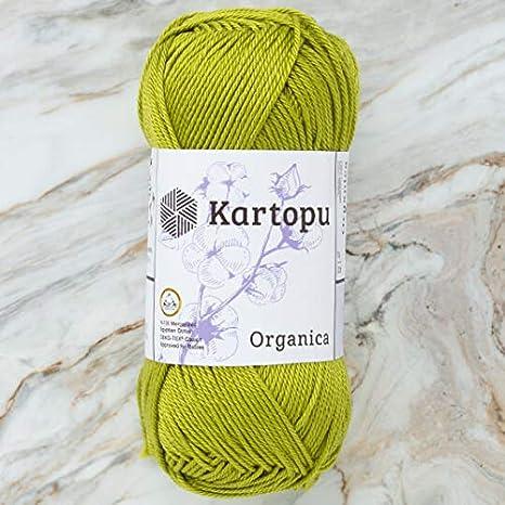 Kartopu Organica, 100% algodón mercerizado, cada uno 1.76 oz (50 g ...