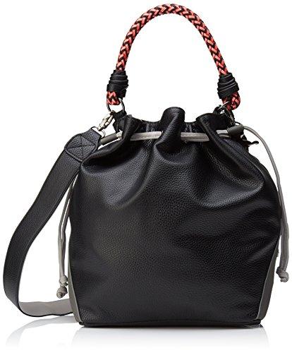 Negro Black L y Mujer H bolsos Lollipops de 14x30x33 hombro cm W Bicol x Bucket Shoppers zBZZng08