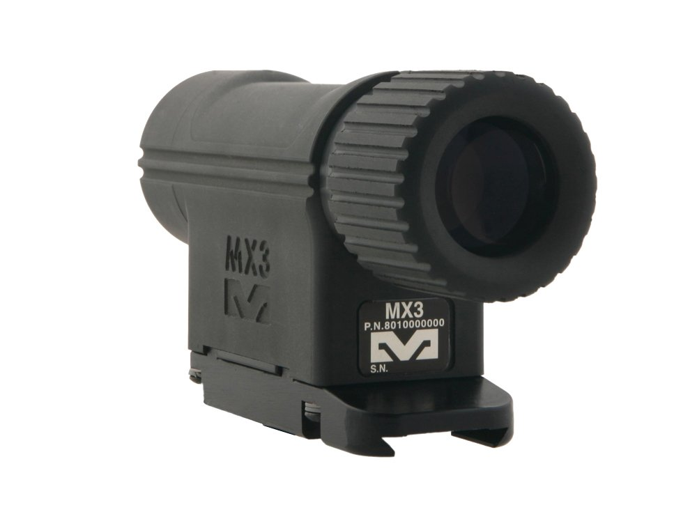The Mako Group Meprolight 1500 Hunting Airsoft Paintball 3X Magnifier for Reflex Red Dot Sights, Black, 3x30mm