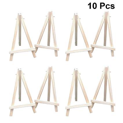 Cabilock 10 piezas mini pantalla de madera caballete trípode ...