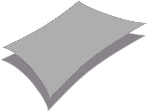 Coarbor 16' x 16' Square Light Gray Waterproof Sun Shade Sail Perfect