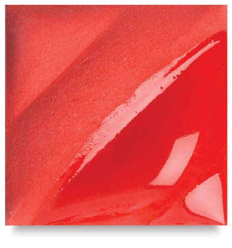 AMACO Velvet Lead-Free Non-Toxic Semi-Translucent Underglaze, 1 pt Jar, Bright Red V-387