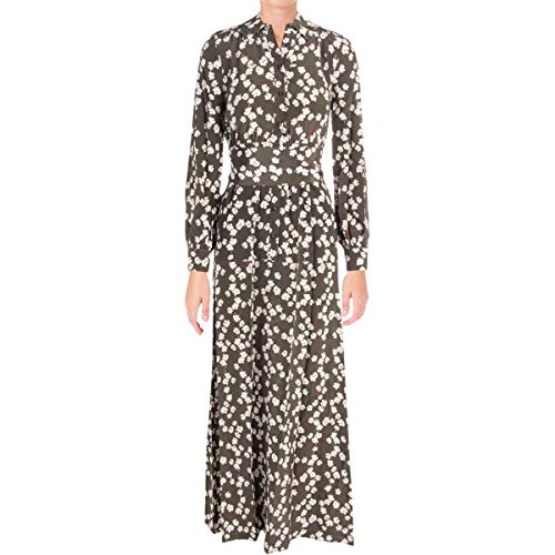 Juicy Couture Womens Abbey Floral Silk Maxi Dress