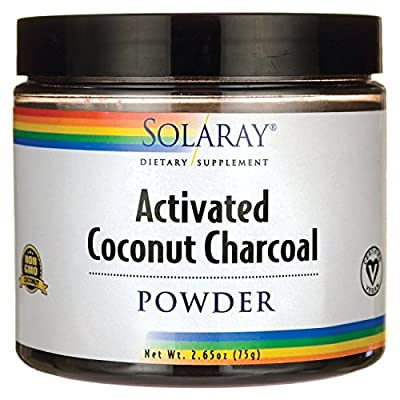 Solaray Charcoal Unflavored Activated Fine Powder, 75 Gram