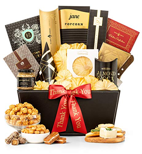 GiftTree Metropolitan Gourmet Thank You Gift Basket | Assorted Candy, Pistachios, Dried Pineapple, Cookie Brittle, Toffee Popcorn | Perfect Way To Show Your Appreciation ()