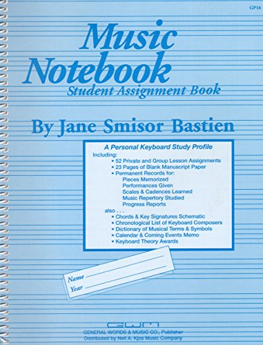 GP16 - Music Notebook Student Assignment Book (Assignment Student Book)