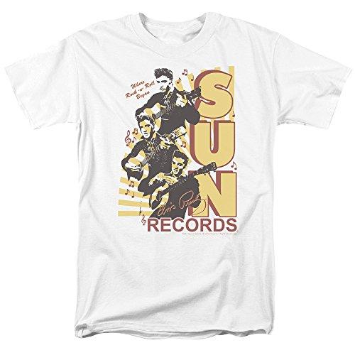Trevco Men's Sun Records Short Sleeve T-Shirt, Tri