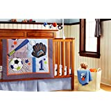 Baby boy 7 Pieces Baby Boy Sport Crib Bedding Set with Changing pad Cover(Without Bumper pad and