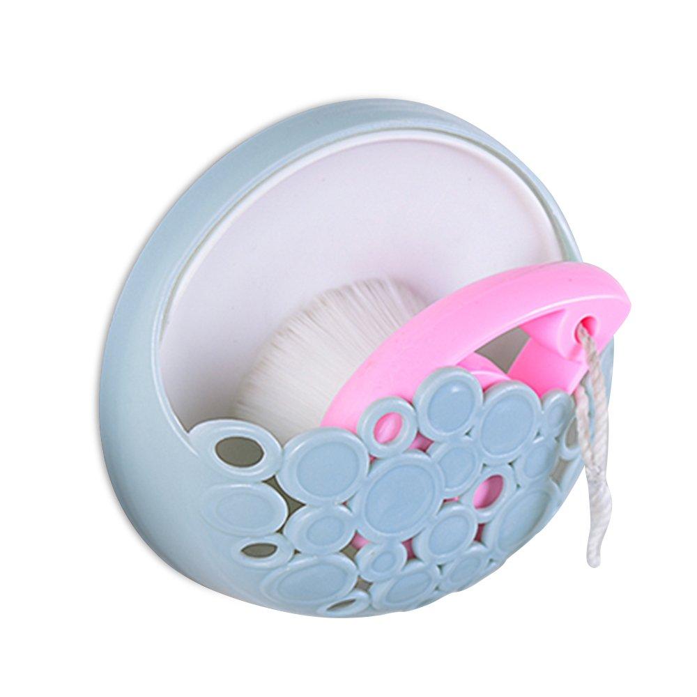Merssavo Dispensador de Jabón de Plástico Duradero con Ventosa para Baño y cocina Azul