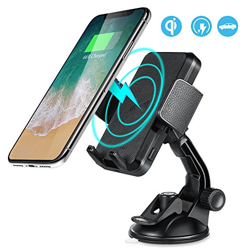 XTD Wireless Car Charger, QI-Certified Charger, for iPhone X/8/8 Plus and All QI-Enabled Devices, Fast Charge for Samsung Galaxy Note 8/S8/ S8+/ S7 / S7 edge / S6 edge+, Note 5 etc (No AC Adapter) by XTD