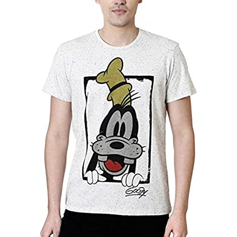 c89823c7 Official Merchandise Mickey Mouse (263) White Men's T Shirt (X Large):  Amazon.in