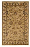 Area Rug, Beige Traditional Bordered Soft Wool Carpet, 2-Foot 2-Inch X 8-Foot