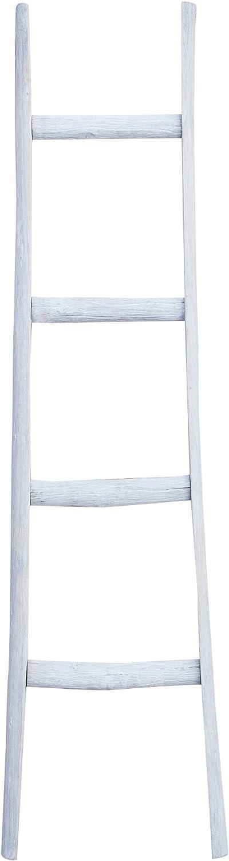 Biscottini - Escalera de madera decorativa - Toallero - 40 x 8 x 150 cm: Amazon.es: Hogar