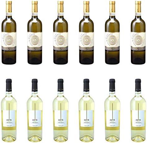 [ 12本 まとめ買い ワイン 飲み比べ ] 2018年 ガヴィ デル コムーネ ディ ガヴィ ブリク サッシ (アジエンダ アグリコーラ ロベルト サロット) 750ml と 2018年 ザブ グリッロ (ヴィニエティ ザブ) 750ml ワインセット