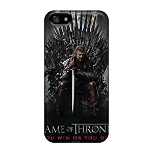 Shockproof Hard Cell-phone Case For Iphone 5/5s (qAq18003Exkd) Allow Personal Design High-definition Game Of Thrones Tv Series Image