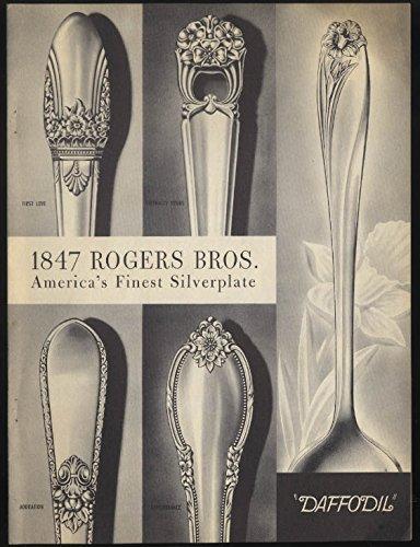 1847 Rogers Bros America's Finest Silverplate Daffodil Design brochure 1944 Design Silverplate