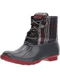 Women's Saltwater Wool Plaid Rain Boot