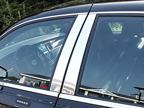 QAA FITS Town CAR 1998-2011 Lincoln (4 Pc: Stainless Steel Pillar Post Trim Kit, 4-Door) PP38680 ()