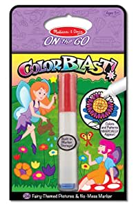 Melissa & Doug On the Go ColorBlast! Activity Book: 24 Fairy-Themed Pictures and No-Mess Marker