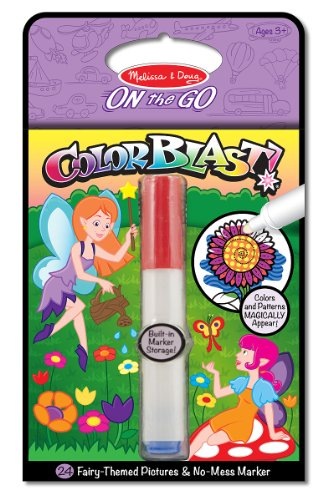 Melissa & Doug On the Go ColorBlast! Activity Book: 24 Fairy-Themed Pictures and No-Mess Marker -