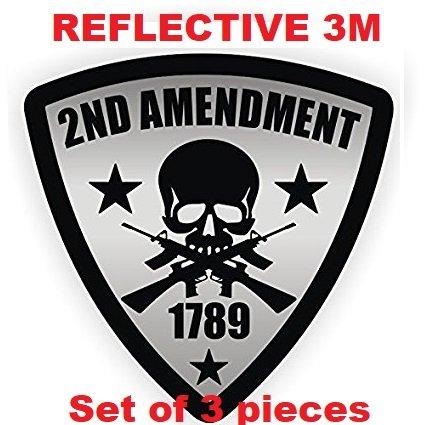 Tres (3) mejor vendedor 2 nd enmienda | reflectante 3 m | soldador casco de protección pegatinas adhesivos de Unión Estados Unidos ...