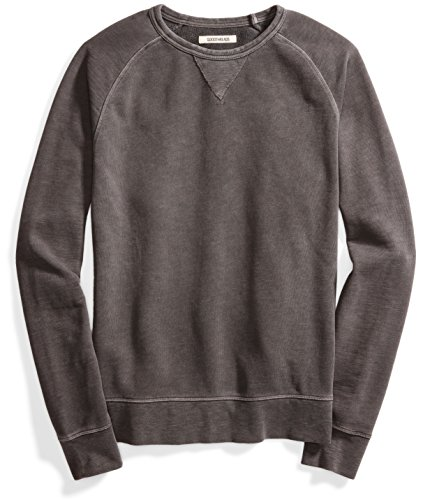Goodthreads Men's French Terry Crewneck Sweatshirt, Black, Medium Black Crewneck Sweatshirt